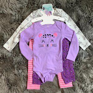 Pekkle | Infant Girl's 4 Piece Set | Purple